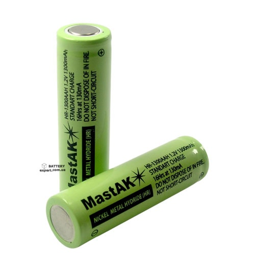 MastAK1300mAh, Ni-MH, 1.2v