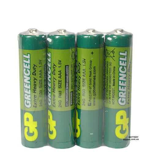 GP Greencell1.5v, солевая