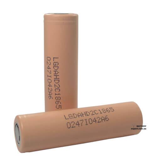 LG 18650HD2C2100mAh, 3.6V, Li-ion
