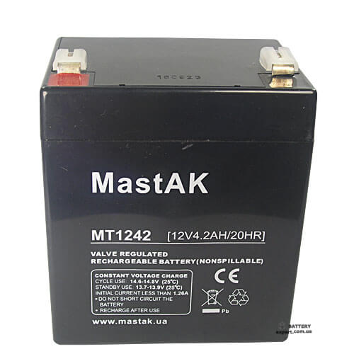 MastAK  MT124212v, 4.2Ah